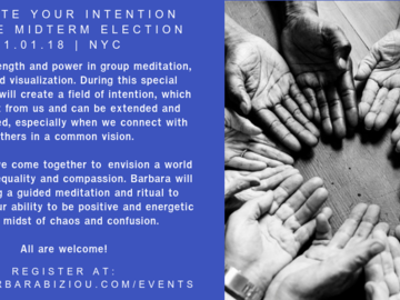 Workshop: Activate Your Intention for the Midterm Election