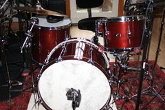 Selling with online payment:  2016 George H. Way Mahogany Drum Set. Cherry Finish in 22/1