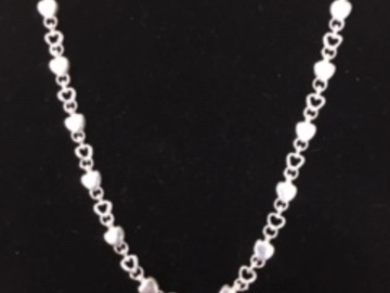 "Buy Now: Genuine Tiffany Sterling Silver Heart Necklaces 17"" Price drop"