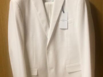 Ilmoitus: Valkoinen Lindebergin puku liivillä koko 54