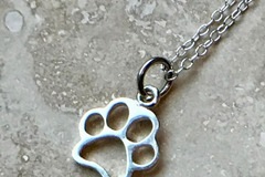 Selling: Sterling Silver Openwork PAW Necklace