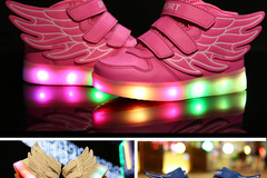 Buy Now: Lot of 12 Kids LED Light up shoes . Blue with remote control