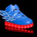 Buy Now: Lot of 12 blue led feather light up shoes with remote contro