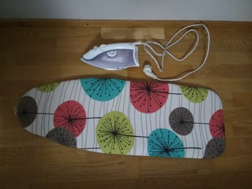 Selling: Steam iron + Marimekko portable ironing table