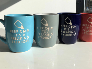 "Selling with online payment: Engraved ""Keep Calm It's A Freaking Eye Drop"" Coffee Mug"