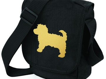 Selling: Cavapoo Bag Metallic Gold Cavapoo on Shoulder Bag Dog Gift