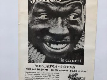 """Selling with online payment: Elvin Jones' Poster #87, Down Under, Cleveland 14×8.5"""", $60."""