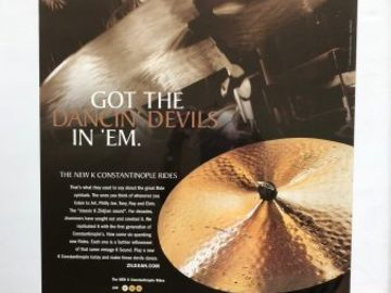 Selling with online payment: Elvin Jones' Poster #26, Zildjian, Dancing Devils, 28″ x 18″