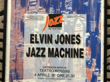 "Selling with online payment: Elvin Jones Jazz Machine, 1991 Italy, Teatro Rossini. 39x26"""