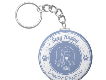 Selling: Stay Happy Key Chain - Dandy Randall