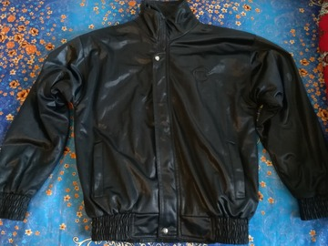 Myydään: Men's fake leather jacket