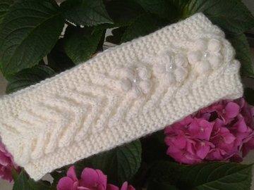 Sale retail: bandeau femme torsadé/Bandeau en laine trico fait main,trico