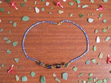 Vente au détail: Collier le Bleu de Méditerranée.