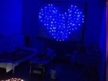 Ilmoitus: Siniset sydän led-valot