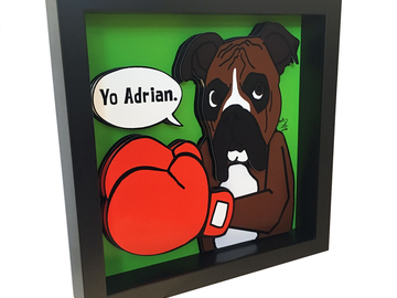 Selling: Boxer 3D Pop Art Rocky Balboa