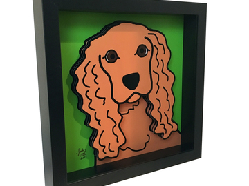 Selling: Cocker Spaniel 3D Art
