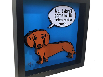 Selling: Dachshund 3D Pop Art