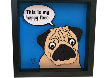 Selling: Pug 3D Pop Art
