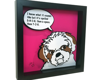 Selling: Shih Tzu 3D Pop Art