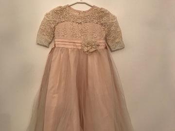 Ilmoitus: Morsiustytön mekko 110 cm