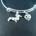 Selling: Dachshund Stainless Steel Bangle Bracelet, I Love My Dog