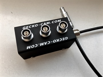 Vermieten: GECKO-CAM 3Way-Splitter 12V 2pin Lemo