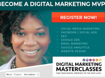 Workshop: Digital Marketing Masterclass: Google & Other Digital Analytics