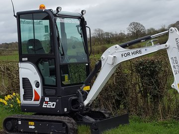 Daily Equipment Rental: 2 ton excavators for hire