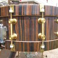 "Selling with online payment: 1999 Bearing Edge Custom drums,6"" X 14"" Macassar Ebony Snare Drum"