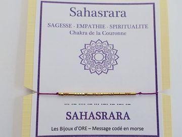 Vente au détail: Bracelet codé en OR : Sanski  SAHASRARA