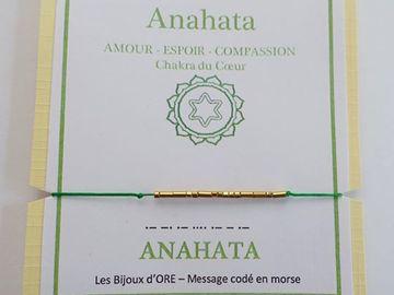Vente au détail: Bracelet en OR codé en morse : ANAHATA