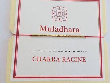 Vente au détail: Bracelet en OR codé en morse : MULADHARA