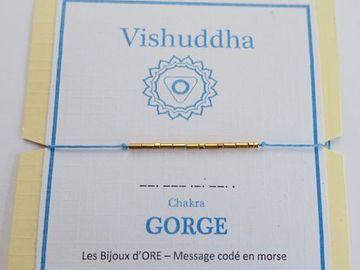 Vente au détail: Bracelet CHAKRA GORGE code morse