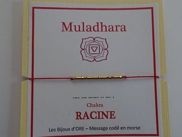 Vente au détail: Bracelet CHAKRA RACINE code morse