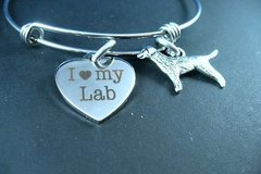 Selling: I Love My Lab, Labrador Retriever, Stainless Steel Bangle