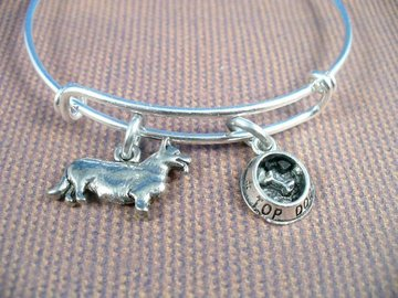 Selling: English Corgi, Stainless Steel Bangle Bracelet, Top Dog Bowl