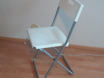 Selling: 4 IKEA white chairs, and a Lamp