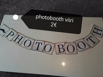 Ilmoitus: Photobooth viiri