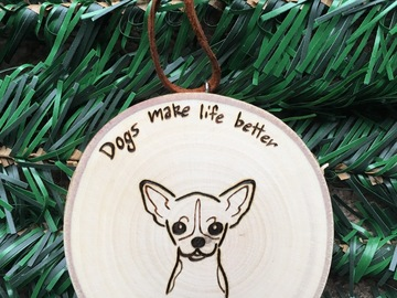 Selling: Chihuahua Dog Christmas Ornament/Personalized Dog Ornaments