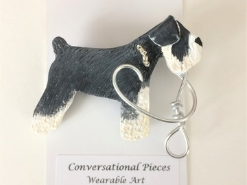 Selling: Schnauzer Dog Brooch