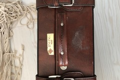 Ilmoitus: Vanhamatkalaukku esim. photobooth rekvisiitalle