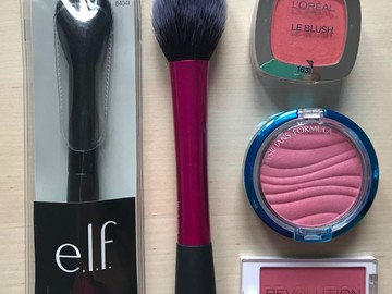 Venta: Pack Coloretes + Brochas L'Oreal, Real Techniques etc. (O CAMBIO)