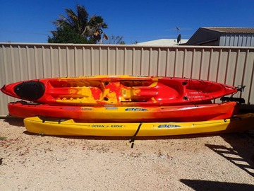 Daily Rate: Kayak – Sit-on-top Double with rudder - (Half Day Rate - 4 Hours)