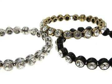 Liquidation/Wholesale Lot: 40 Chico's rhinestone bracelets- $2.49 each- $39.99 each retail