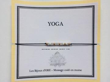 Sale retail: Bracelet YOGA codé en morse