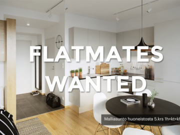 Tarvitaan: Looking for flatmates for a flat in the city center of Helsinki