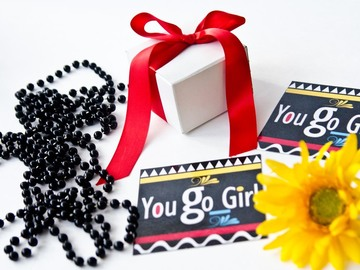 Selling with online payment: You Go Girl motivational magnet
