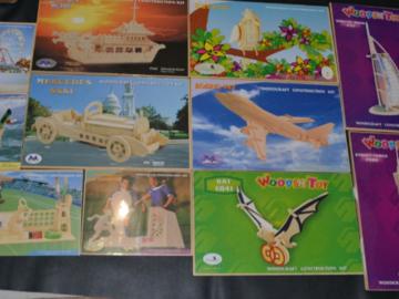 Liquidation Lot: 3D Wooden Puzzle by WoodCraft Construction - 50 Pcs