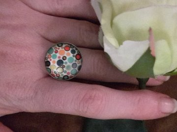 "Sale retail: bague ""mon pop art"""