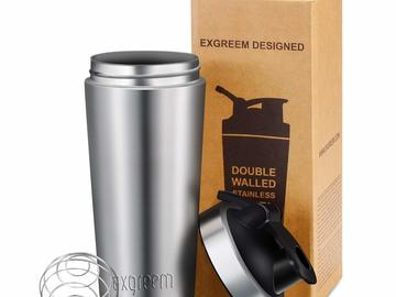 Buy Now: 30 X Shaker Bottle Exgreem 26oz Top Stainless Steel Insulated
